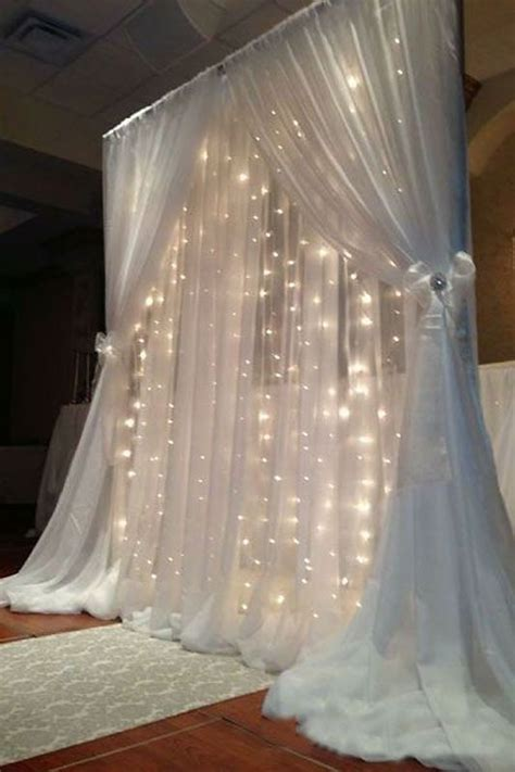 white backdrop with lights 600 sequential white led lights big wedding