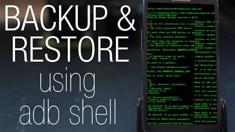 reset android via adb full tutorial how to backup or restore any android