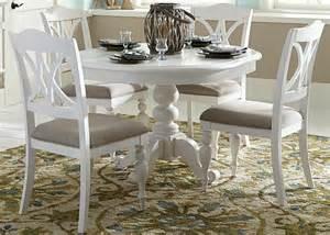 Antique White Dining Room Set summer house oyster white antique white round pedestal dining room set
