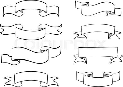 free doodle banner vector banner scribble vector vintage scroll design