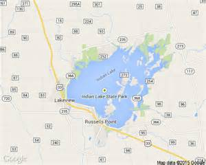 Indian Lake Ohio Map by Indian Lake Vacation Rental 5139 Lakehousevacations Com