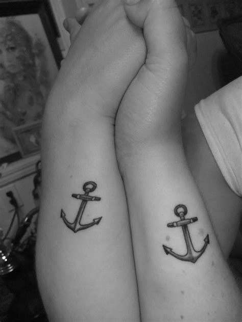 matching anchor tattoos matching anchor tattoos