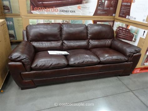 costco leather couch simon li leonardo leather sofa
