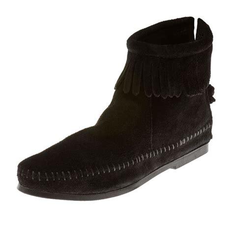 minnetonka moccasins boots minnetonka moccasins 289 s hardsole ankle boot
