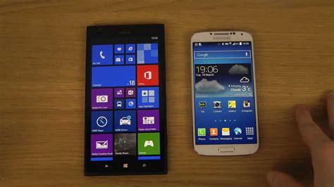 Nokia Lumia Kitkat nokia lumia 1520 vs samsung galaxy s4 android 4 4 kitkat comparison review