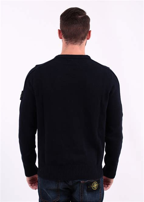 Conventional Knit Cardigan island knit crew sweater navy