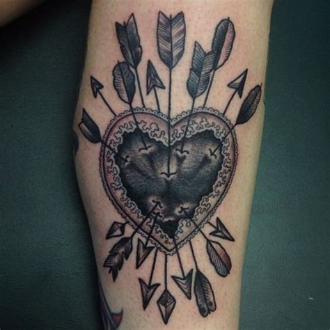 heartbeat arrow tattoo 25 inside elbow tattoos