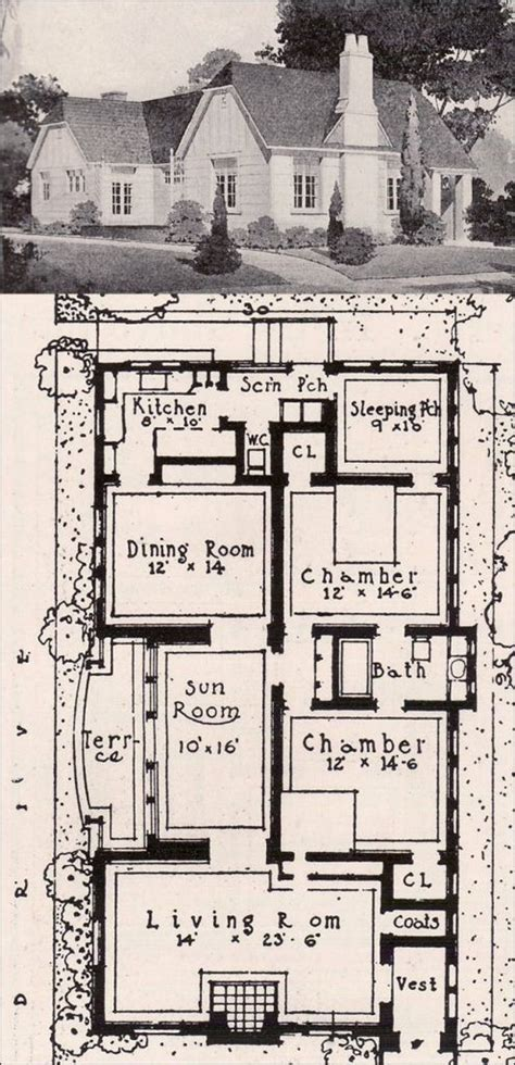 small cottages floor plans 1920s cottage house plans floor plans for