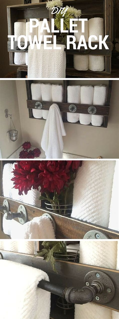 home decor tutorial diy pallet towel rack
