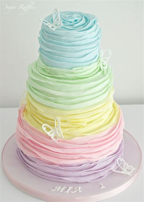 Floral Roberto Cavalli Top Simple Yet Whimsical by Best 25 Rainbow Wedding Cakes Ideas On