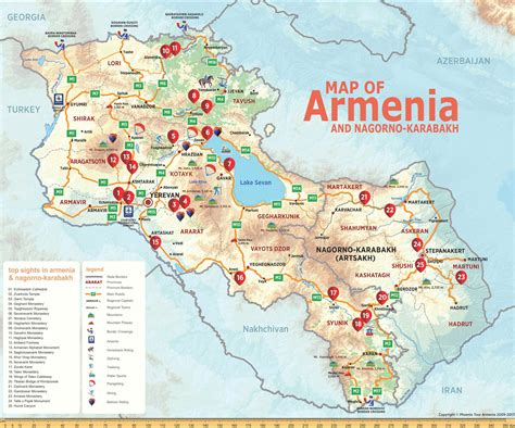 map of armenia map tour armenia