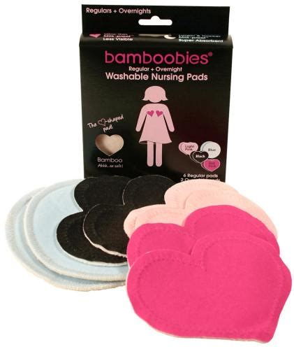 Bamboobies Reusable Breastpad Multipack Multicolor multi pak bamboobies nursing pads