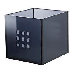lekman box dark gray ikea