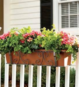 self watering planter 40 quot deck planters plow hearth