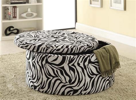 zebra print storage ottoman zebra print storage ottoman chipley faux leather storage
