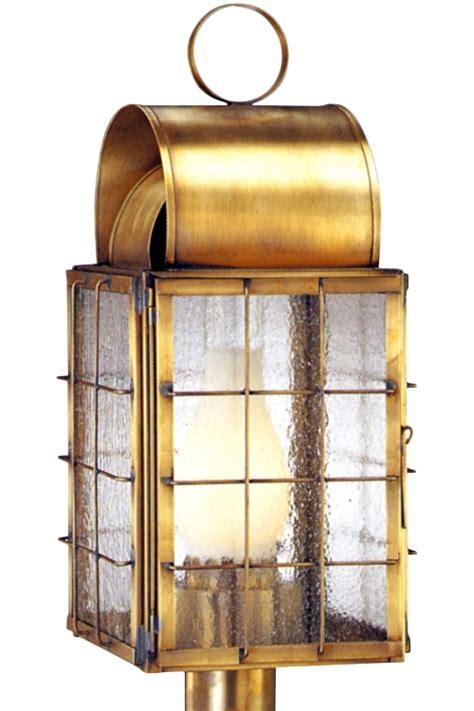 copper l post lantern newport harbor nautical copper lantern post light head