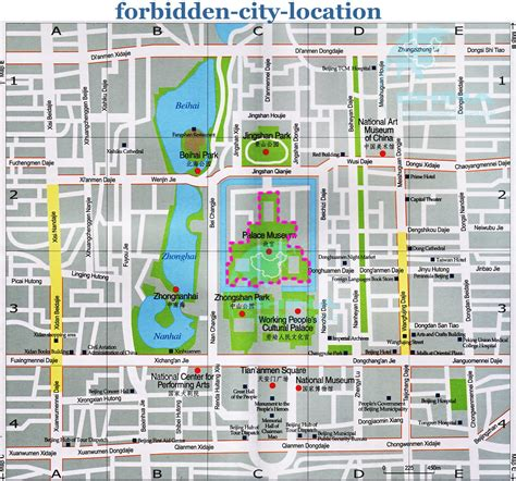map of the city of forbidden city tourist map forbidden city mappery