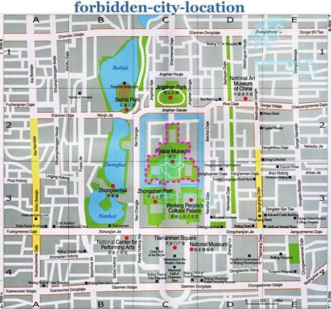 the city of map forbidden city tourist map forbidden city mappery