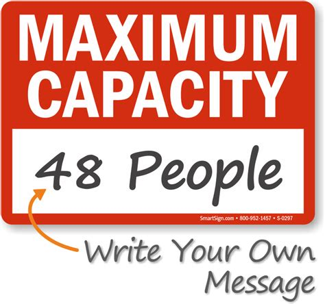 Weight Capacity Signs Floor Load Capacity Signs Occupancy Sign Template