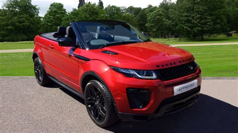 land rover evoque black convertible grange land rover woodford motorparks