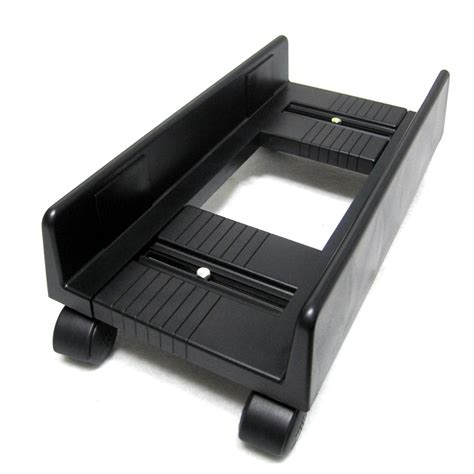 desktop computer stands black adjustable pc carrier desktop cpu moving stand tower
