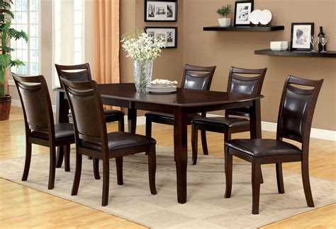 Cherrywood Dining Room Sets Woodside Cherry Rectangular Extendable Leg Dining Room Set Cm3024t Furniture Of America