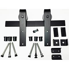 Wrought Iron Barn Door Hardware Agave Ironworks Rh001 5 Wrought Iron Rolling Track Barn Door Hardware Kit Basic Smooth