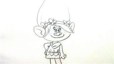 imagenes para pintar trolls dibujar a poppy para ni 241 os aprende como dibujar a poppy