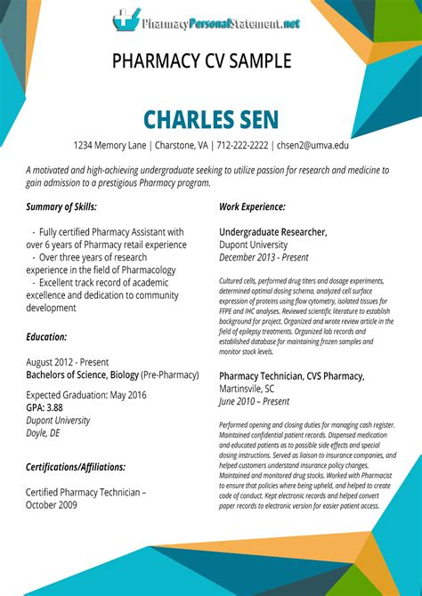cv pharmacy writing service pharmacy personal statement