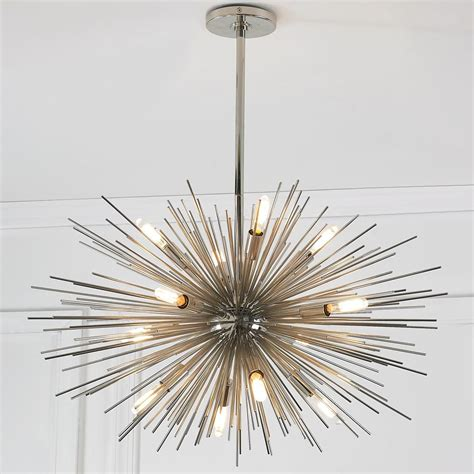 mid century modern moonbeam chandelier 12 light