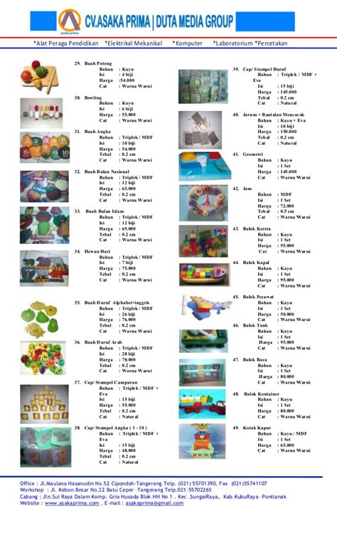 harga ape dalam daftar harga mainan edukatif paud tk ape paud tk