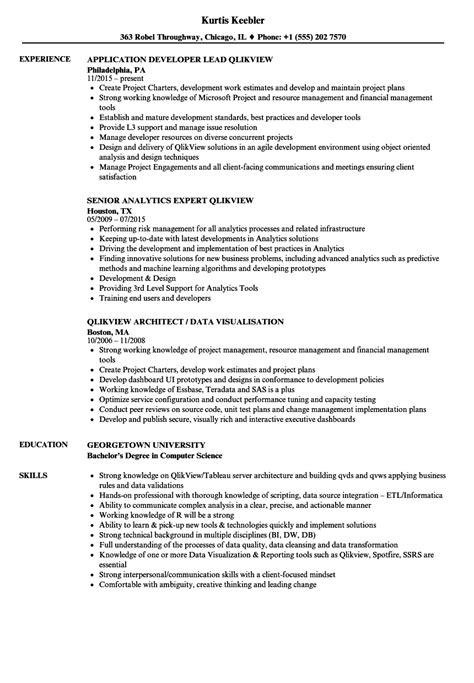 qlikview resume sles velvet