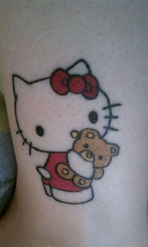 hello kitty couple tattoos my hello on left ankle amazing