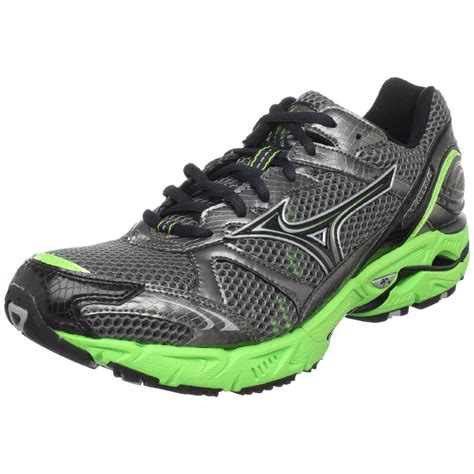 mizuno wave rider mens running shoes mizuno mens wave rider 14 running shoe in green for