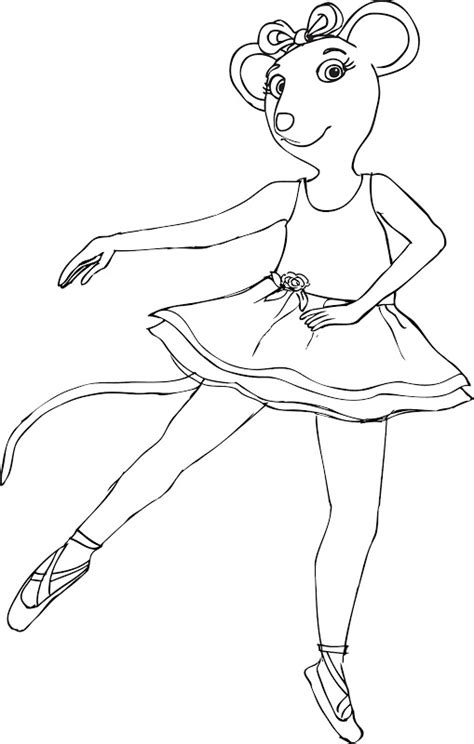 coloring pages of angelina ballerina angelina ballerina free coloring pages