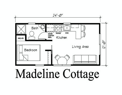 guest house floor plan studio apartment pinterest 12x24 cabin floor plans google search moma she shed