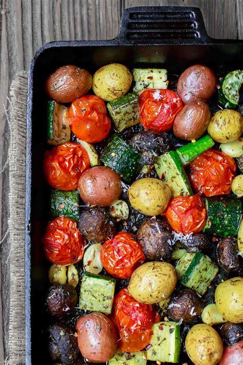 italian oven roasted vegetables  mediterranean dish