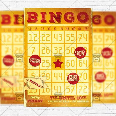 bingo card template psd bingo premium flyer template instagram size