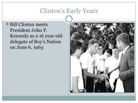 bill clinton s childhood president bill clinton and cv