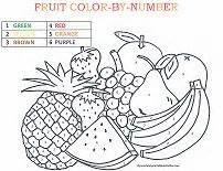 Galerry fruit coloring by number