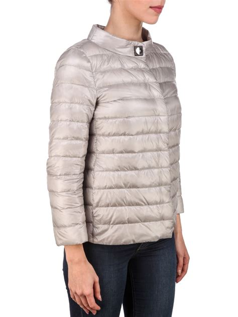 button padded jacket herno herno button padded jacket beige s
