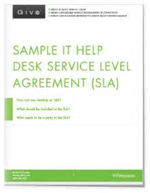 help desk service level agreement template it support service level agreement template khafre
