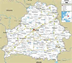 highway map of maps of belarus detailed map of belarus in map
