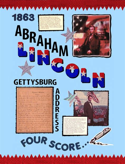abraham lincoln biography presentation make a poster about abraham lincoln gettysburg address