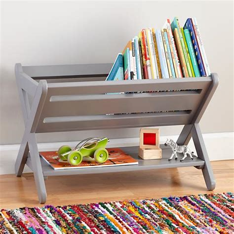 book storage kids good read book caddy grey construction toy and gaming