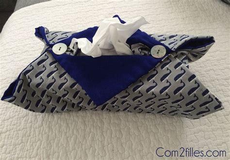 Tuto Boite Mouchoir Tissu diy couture housse pour boite 224 mouchoirs