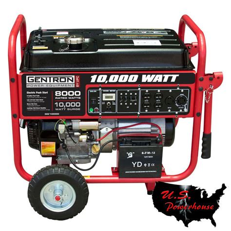 gentron pro2 generator gg10020 10 000 watt w electric