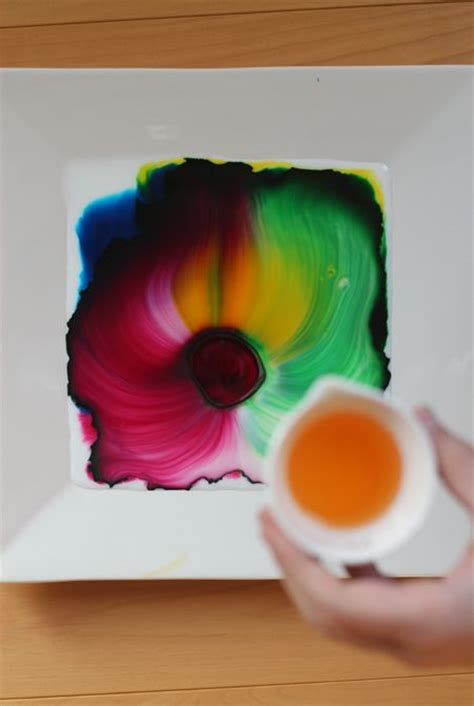Cool At Home Crafts by All You Need Is Milk Food Coloring And Dish Soap So Cool