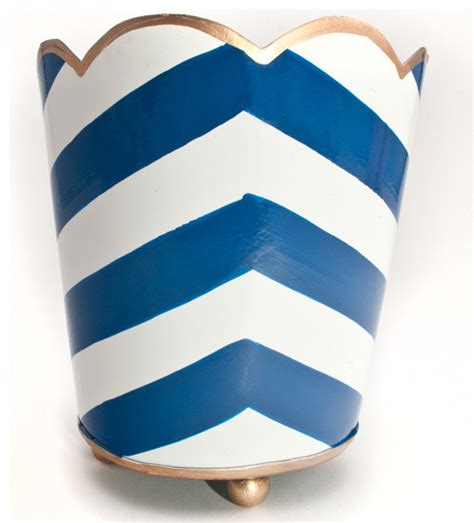Chevron Desk Accessories Painted Chevron Pencil Cup Contemporary Desk Accessories By See Work