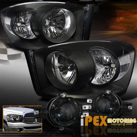 2006 2007 2008 dodge ram 1500 2500 3500 black headlights